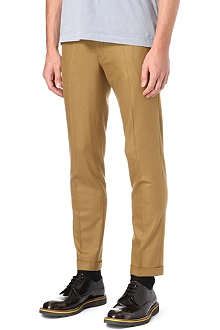 PAUL SMITH MAINLINE Flat-front slim-fit trousers