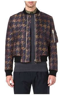 PAUL SMITH MAINLINE Oversized houndstooth bomber jacket