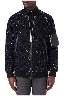 PAUL SMITH MAINLINE Woven long bomber jacket