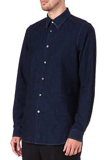 PAUL SMITH MAINLINE Denim polka-dot panel shirt