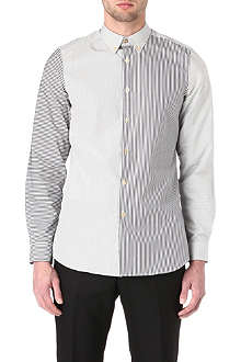 PAUL SMITH MAINLINE Mixed-stripe single-cuff shirt