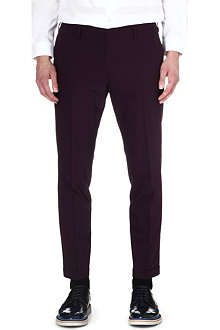 PAUL SMITH MAINLINE Slim-fit tapered wool-blend trousers