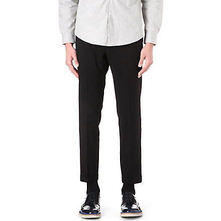 PAUL SMITH MAINLINE Slim-fit turn-up trousers (Black
