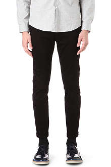 PAUL SMITH MAINLINE Slim-fit stretch-cotton trousers