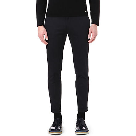 PAUL SMITH MAINLINE Cotton turn-up trousers (Navy