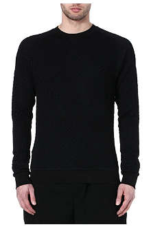 PAUL SMITH MAINLINE Mesh overlay cotton sweatshirt