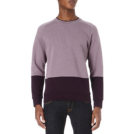 PAUL SMITH MAINLINE Panelled knitted jumper (Purple