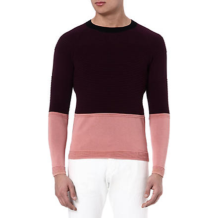 PAUL SMITH MAINLINE Bubble knitted jumper (Purple