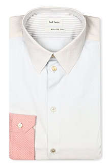 PAUL SMITH MAINLINE Slim-fit panel detail shirt