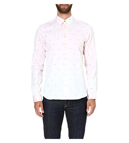 PAUL SMITH MAINLINE Flamingo-print cotton shirt (Pink