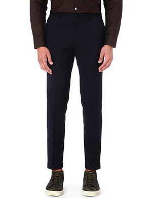 PAUL SMITH MAINLINE Cropped flat-front trousers