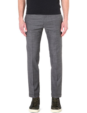 PAUL SMITH MAINLINE Cropped wool-blend trousers