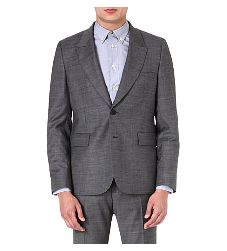 PAUL SMITH MAINLINE Single-breasted wool-blend blazer (Grey