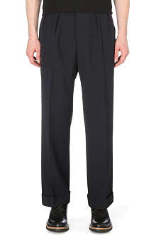 PAUL SMITH MAINLINE Wide-leg wool-blend trousers