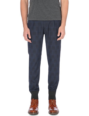PAUL SMITH MAINLINE Checked tapered trousers