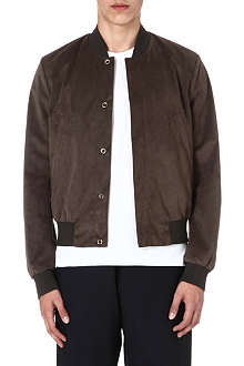 PAUL SMITH MAINLINE Suede bomber jacket