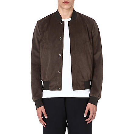 PAUL SMITH MAINLINE Suede bomber jacket (Green/grey