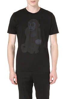 PAUL SMITH MAINLINE Monkey-print cotton t-shirt