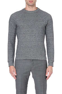PAUL SMITH MAINLINE Raglan silk-jersey sweatshirt