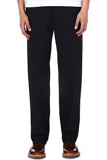 PAUL SMITH MAINLINE Drawstring mid-rise wool trousers
