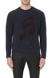 PAUL SMITH MAINLINE Musical note mohair jumper