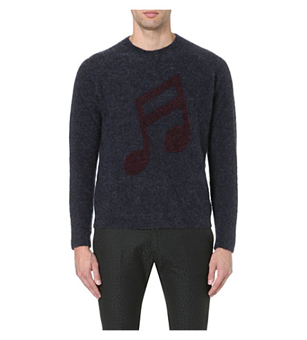 PAUL SMITH MAINLINE Musical note mohair jumper (Navy