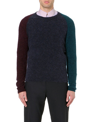 PAUL SMITH MAINLINE Colour-block knitted jumper