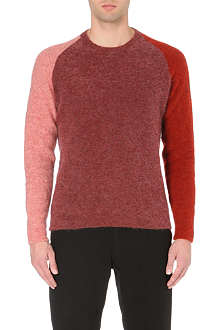 PAUL SMITH MAINLINE Colour block mohair jumper