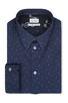 PAUL SMITH MAINLINE Music Note single-cuff chambray shirt