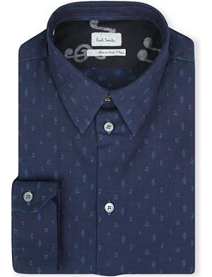 PAUL SMITH MAINLINE Music Note single-cuff chambray shirt