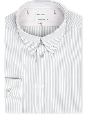 PAUL SMITH MAINLINE Striped button-down collar shirt
