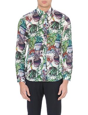 PAUL SMITH MAINLINE Cotton plant-print shirt