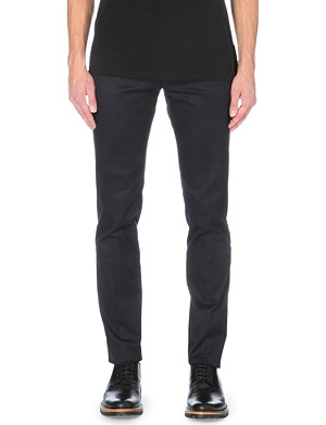 PAUL SMITH MAINLINE Slim-fit mid-rise stretch-cotton chinos