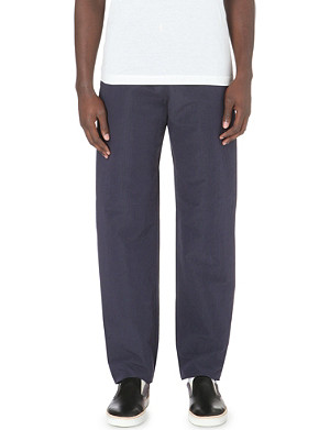PAUL SMITH MAINLINE Wide linen and cotton-blend trousers