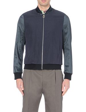 PAUL SMITH MAINLINE Satin-sleeve bomber jacket
