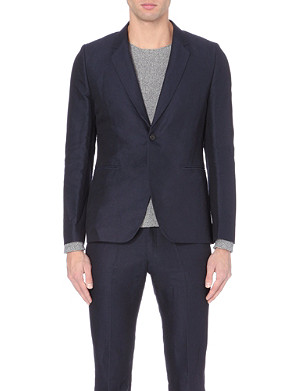 PAUL SMITH MAINLINE Single-breasted linen and cotton-blend blazer