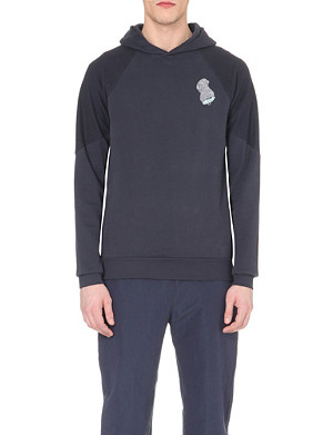 PAUL SMITH MAINLINE Can-printed pullover cotton hoody