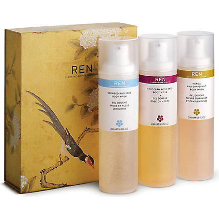 REN Body wash trio