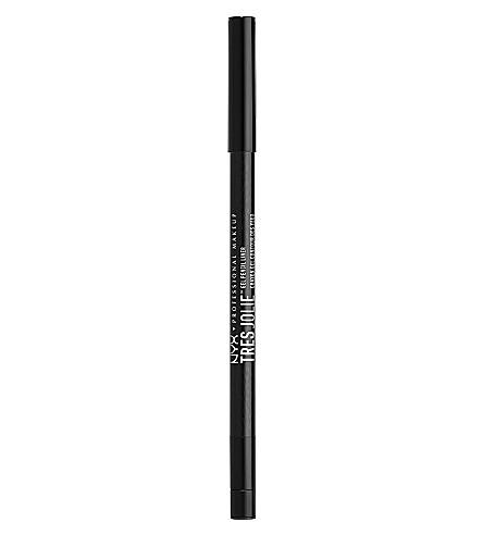 NYX PROFESSIONAL MAKEUP Tres Jolie gel pencil eye liner (Pitch black