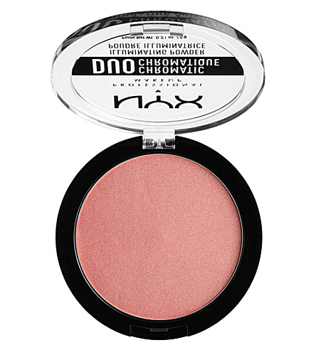 NYX PROFESSIONAL MAKEUP Duo Chromatic Illuminating Powder (Crushed+bloom