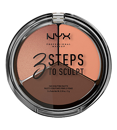 NYX PROFESSIONAL MAKEUP 3 雕刻面板的步骤 (深