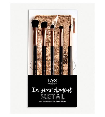 NYX PROFESSIONAL MAKEUP In Your Element Metallics Eye Brush Set
