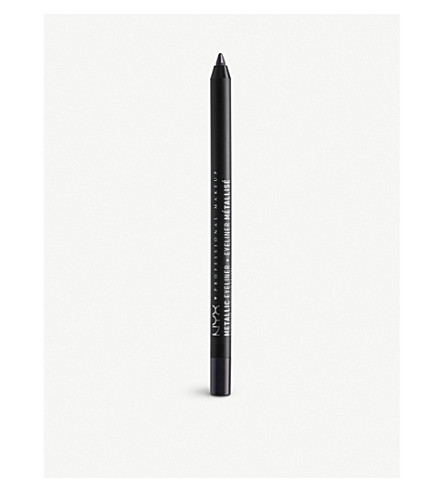 NYX PROFESSIONAL MAKEUP Metallic eyeliner pencil (Black+metal