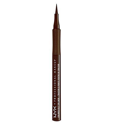 NYX PROFESSIONAL MAKEUP Colored Felt Tip Liner (Chocolate+brown
