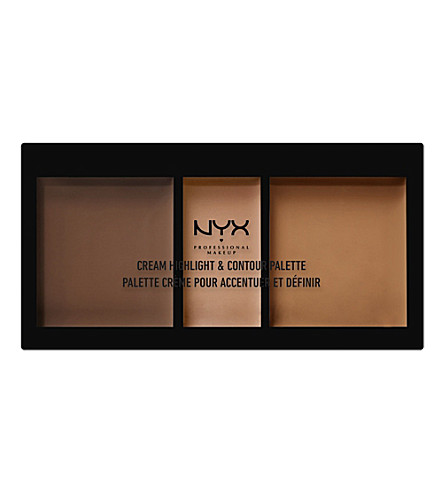 NYX PROFESSIONAL MAKEUP Cream Highlight & Contour Palette (Deep