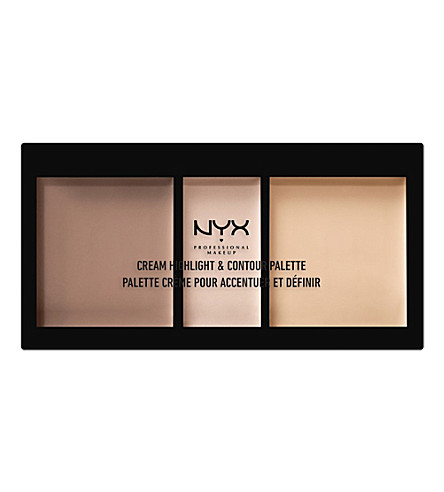 NYX PROFESSIONAL MAKEUP Cream Highlight & Contour Palette (Light