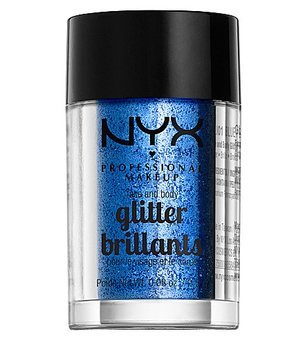 NYX PROFESSIONAL MAKEUP Face & body glitter brilliants (Blue