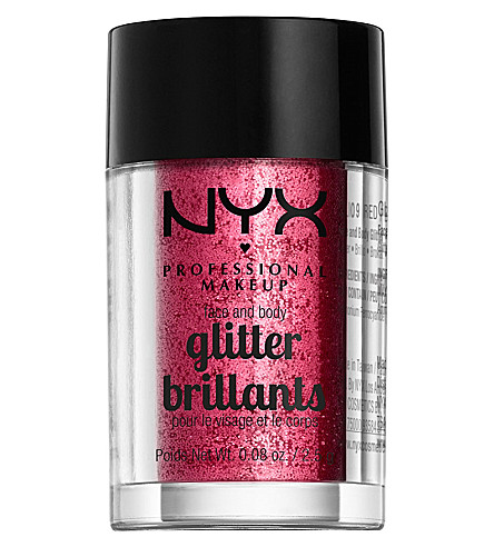 NYX PROFESSIONAL MAKEUP Face & body glitter brilliants (Red