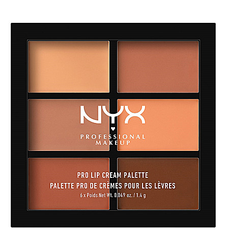 NYX PROFESSIONAL MAKEUP Pro lip cream palette (Nudes