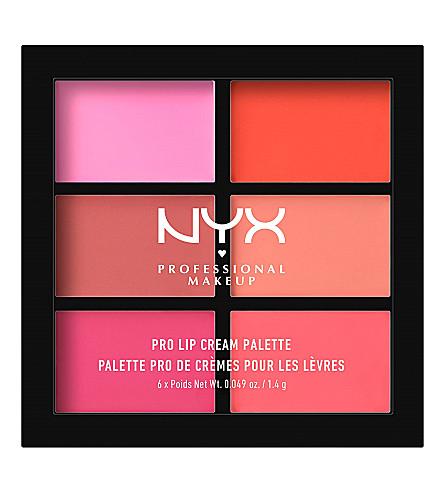 NYX PROFESSIONAL MAKEUP Pro lip cream palette (Pinks